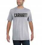 Koszulka Carhartt Block Logo T-Shirt S/S Heather Grey Szara