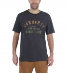 Koszulka Carhartt Workwear Graphic Short Sleeve T-Shirt Carbon Heather Ciemnoszara