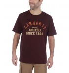 Koszulka Carhartt Workwear Graphic Short Sleeve T-Shirt Port Bordo