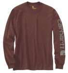 Koszulka Carhartt Logo Long Sleeve T-Shirt Iron Ore Heather