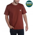 Carhartt koszulka Workwear Pocket S/S Relaxed Fit K87 - Dark Barn Red