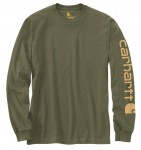 Koszulka Carhartt Logo Long Sleeve T-Shirt Winter Moss Heather