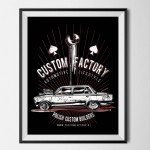 CUSTOM FACTORY - plakat FIAT-ROD