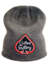 CUSTOM FACTORY - Czapka BEANIE LOGO GREY