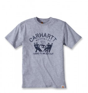 Koszulka Carhartt Hard To Wear Out Graphic T-Shirt Heather Grey Szara