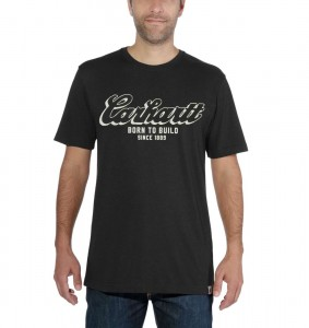 Koszulka Carhartt Maddock Born To Build Graphic T-Shirt Black Czarna