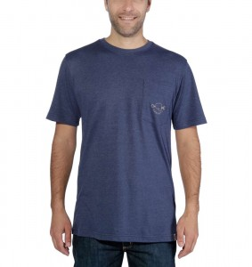 Koszulka Carhartt Maddock Strong Graphic Pocket T-Shirt Indigo Heather Granatowa