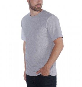 Carhartt Koszulka Workwear Solid T-Shirt Heather Gray Szary Melanż