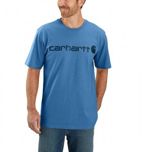 Koszulka Carhartt Core Logo T-Shirt COASTAL HEATHER